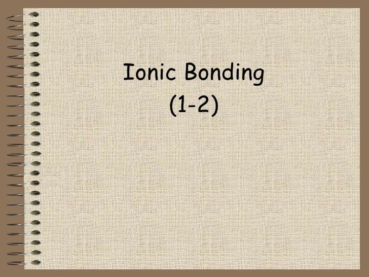 Ionic Bonding 4