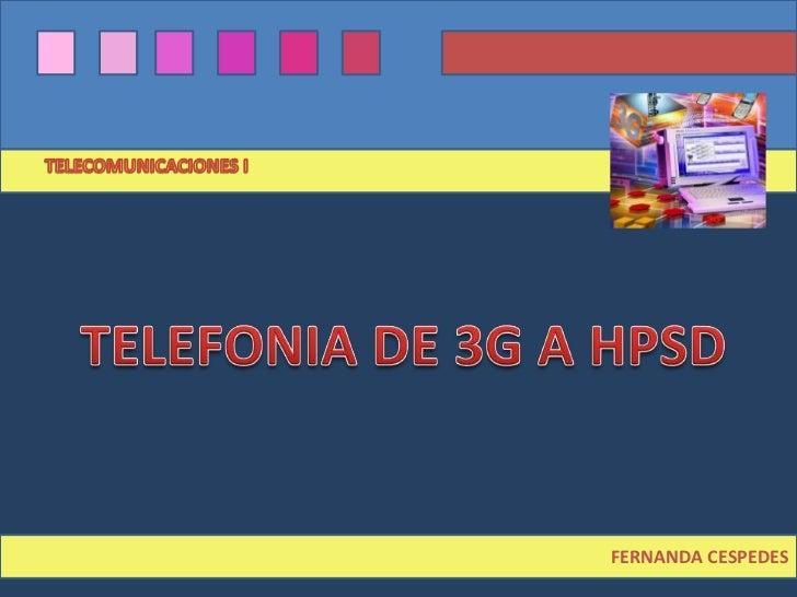 Evolución de telefonía 3G a HSPDA