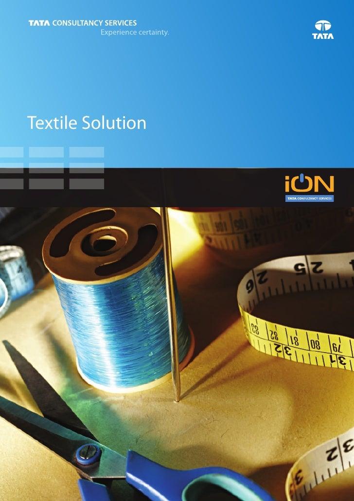 iON Textile Solution Brochure Textile ERP solutions for SME Stores Management