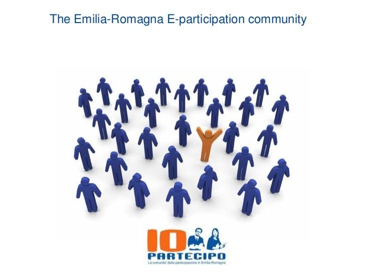The Emilia-Romagna E-participation community