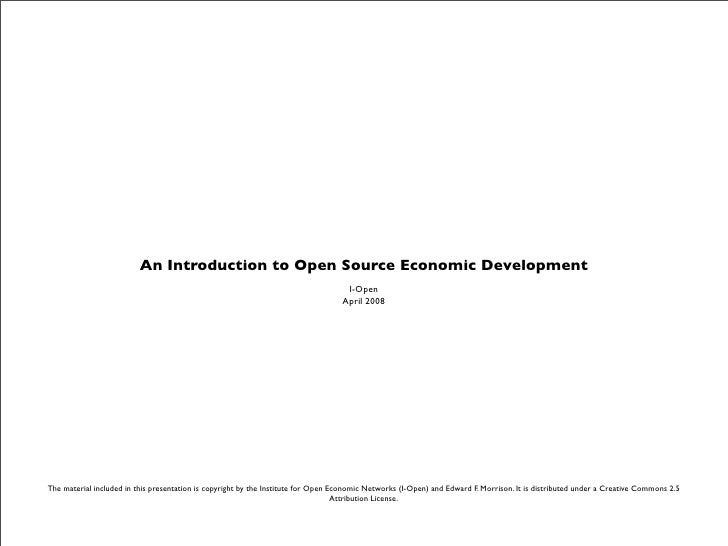 An Introduction to Open Source Economic Development                                                                       ...