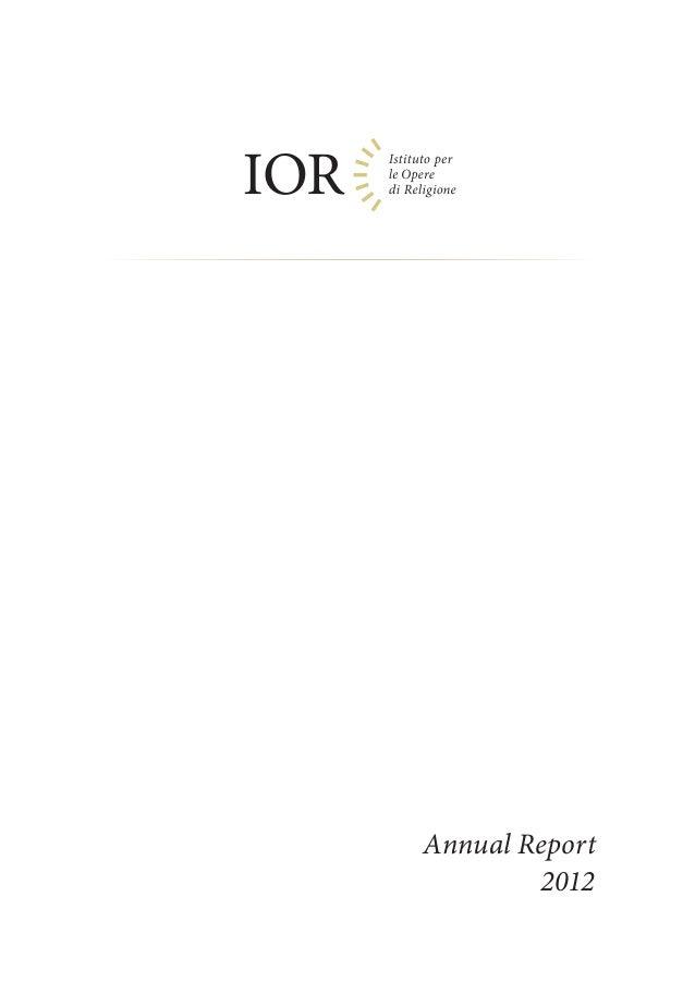 IOR Annual Report 2012