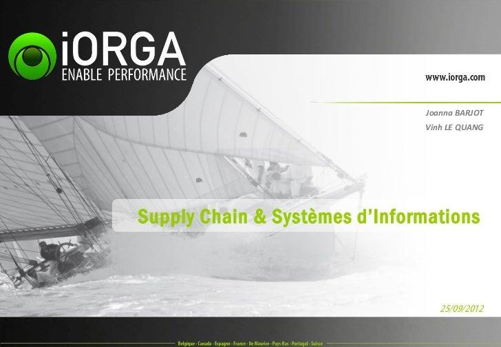 Joanna BARJOT                               Vinh LE QUANGSupply Chain & Systèmes d'Informations                           ...