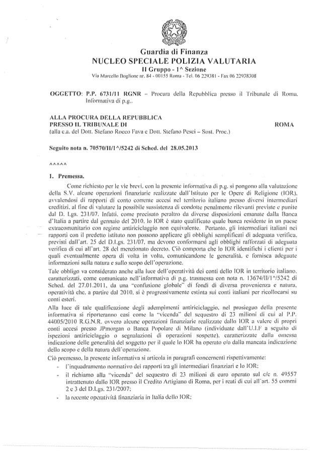 """Guardia di Finanza NUCLEO SPECIALE POLIZIA VALUTARIA Il Gruppo- l"""" Sezione Via ivlarcello Boglione nr. 8-t- ()(] 155 Rnmu-..."""