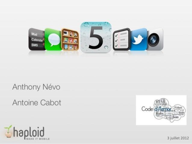 Codedarmor 2012 - 05/06 - Développement IOS