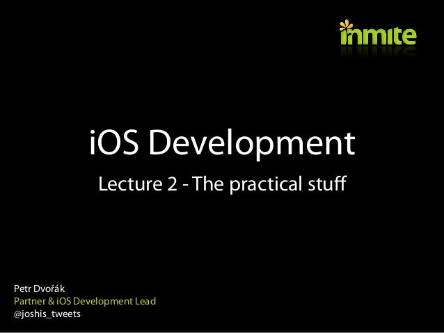 MFF UK - Advanced iOS Topics