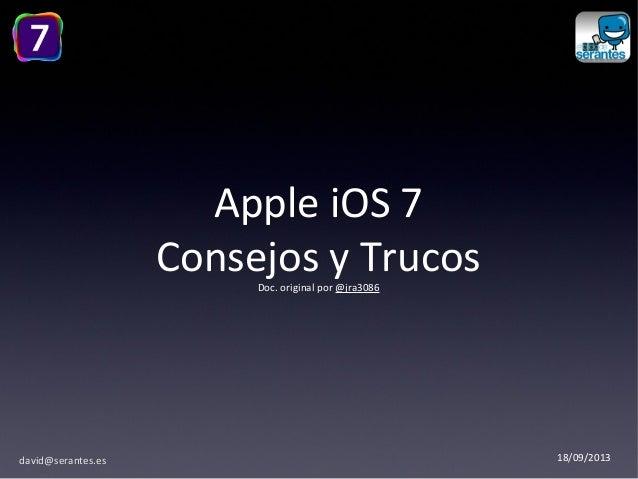 iOS 7 Consejos y Trucos