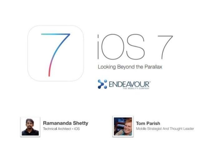 iOS7 : Looking beyond parallax