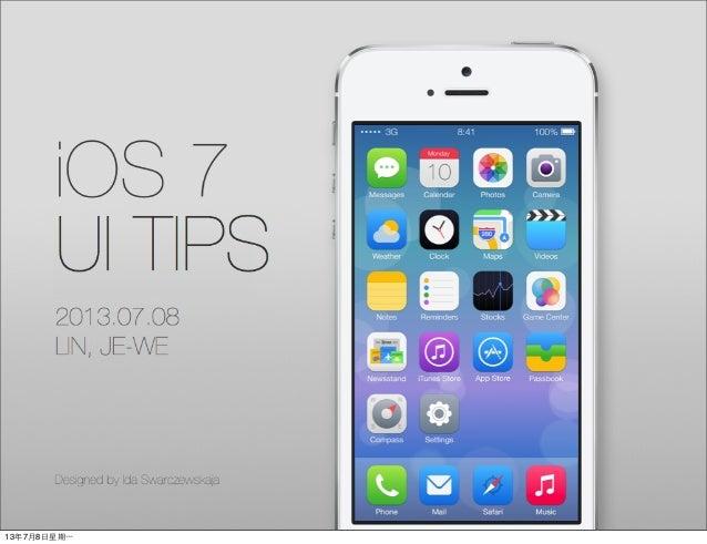 iOS 7 UI tips