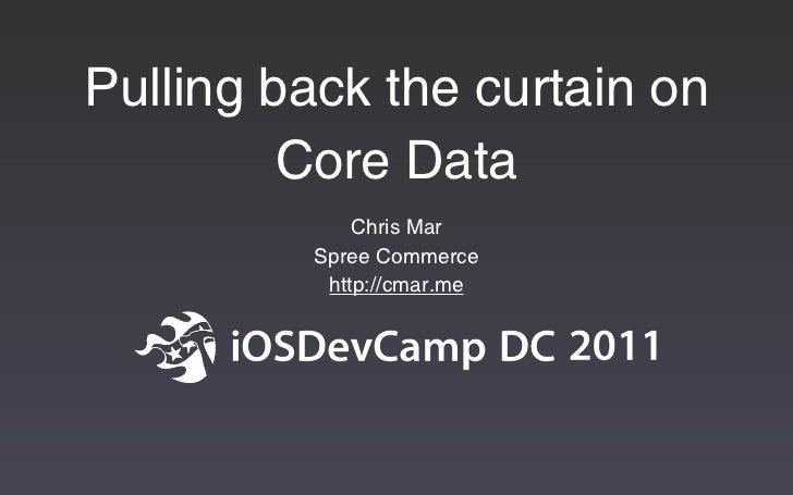 iOSDevCamp 2011 Core Data