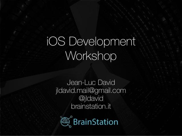 iOS Development Workshop