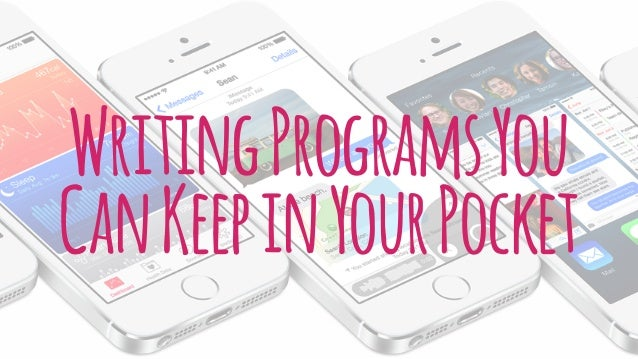 WritingProgramsYou CanKeepinYourPocket