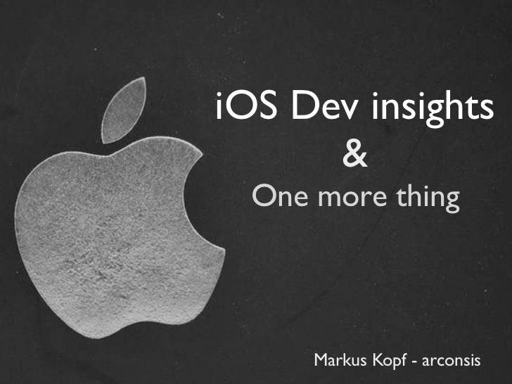 I os dev_insights