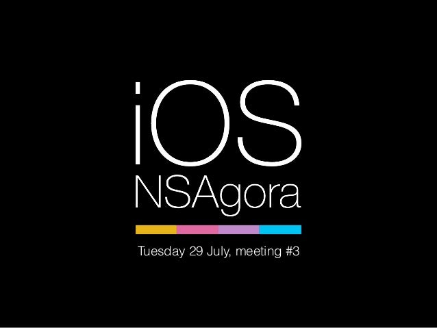 Tuesday 29 July, meeting #3