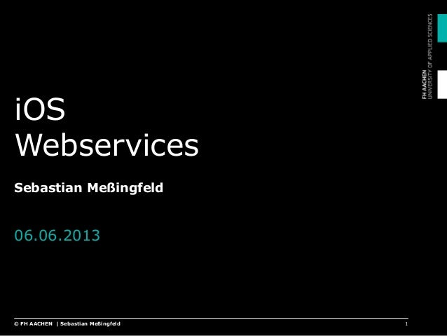 Apple iOS - Webservices