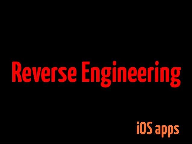 Reverse Engineering iOS apps