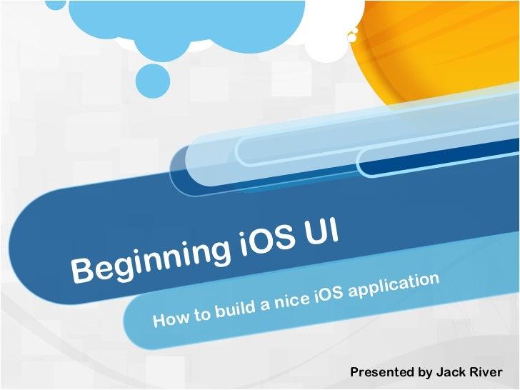 Beginning iOS UI