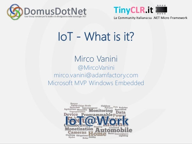 IoT -  What is it ?