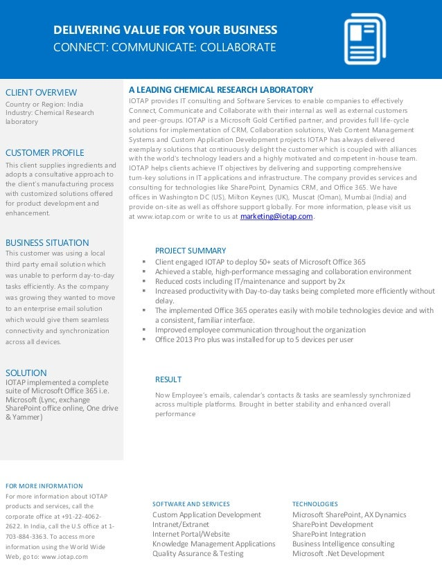 microsoft lync voice case studies Microsoft lync business value and allows employees to use pc or phone for voice calls case studies microsoft, windows, lync and other product names are.