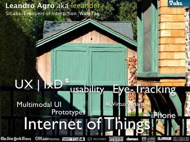Internet degli Oggetti (lecture Elis center)