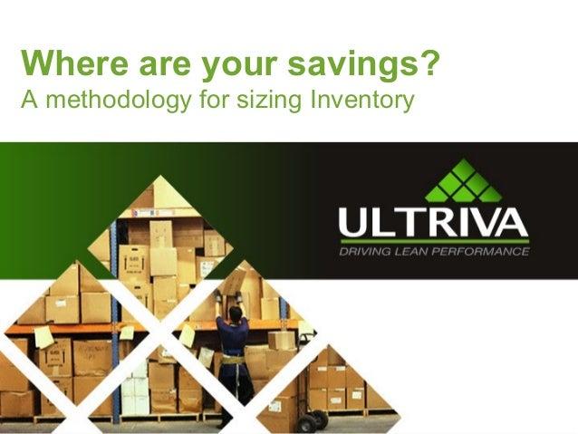 Ultriva Inventory Optimization Tool