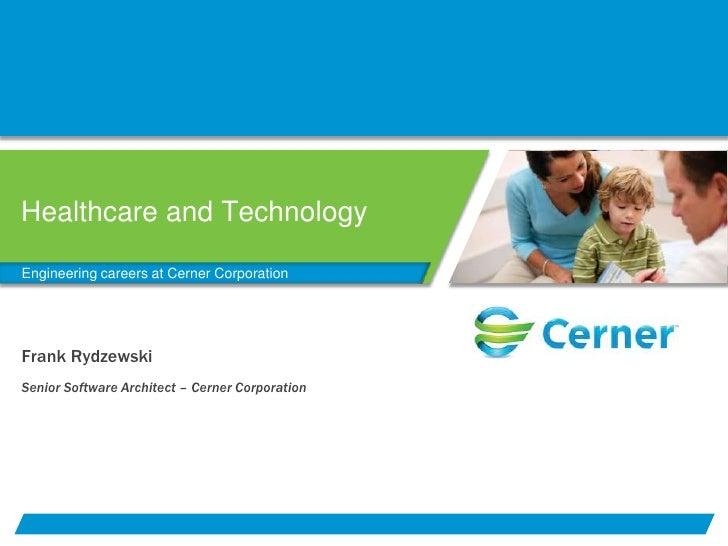 Cerner - Iowa Biomedical Engineering Seminar Presentation