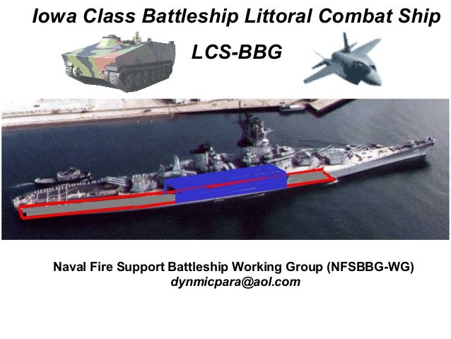 Iowa Class Battleship Littoral Combat Ship                       LCS-BBG  Naval Fire Support Battleship Working Group (NFS...