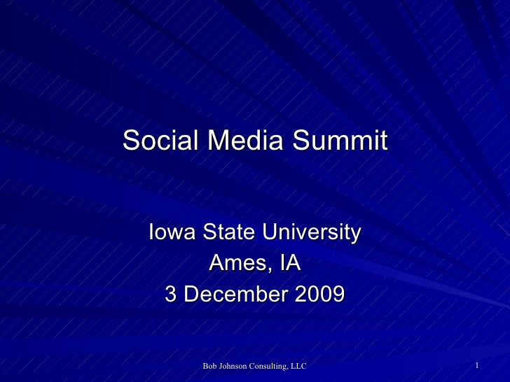 Social Media Summit - Iowa State University