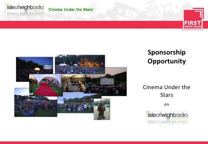 Sponsorship Opportunity Cinema Under the Stars on