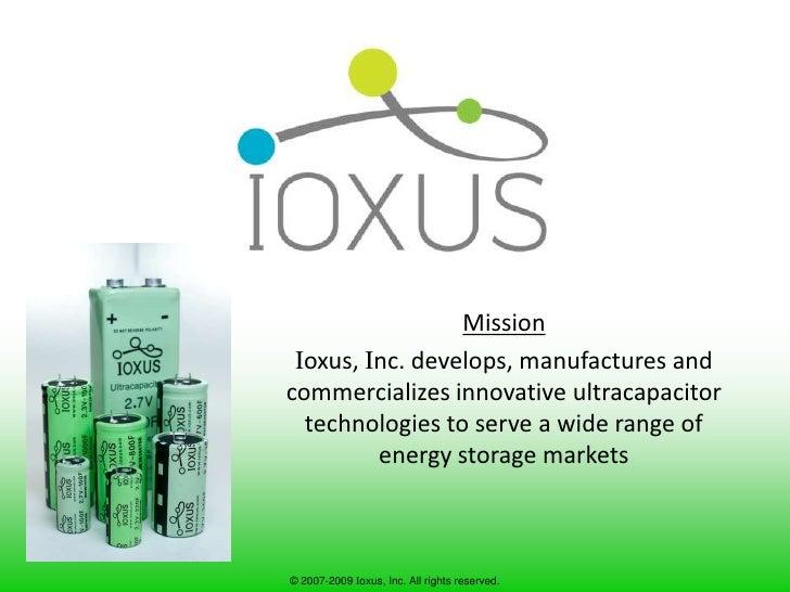 Ioxus General Slides 8 6 2009