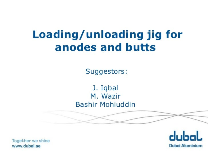 Loading/unloading jig for   anodes and butts         Suggestors:           J. Iqbal           M. Wazir       Bashir Mohiud...