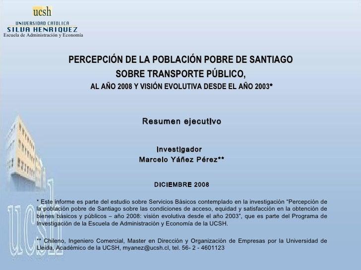 Evaluación del Transporte Público de Santiago