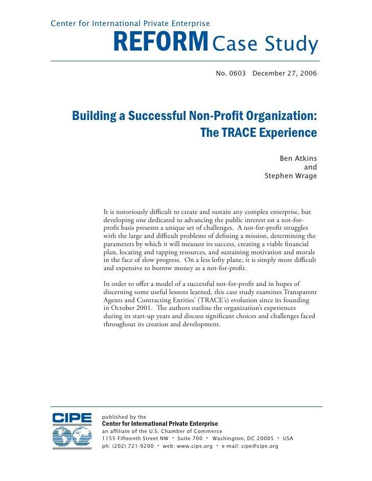 Center for International Private Enterprise                    REFORM Case Study                                          ...