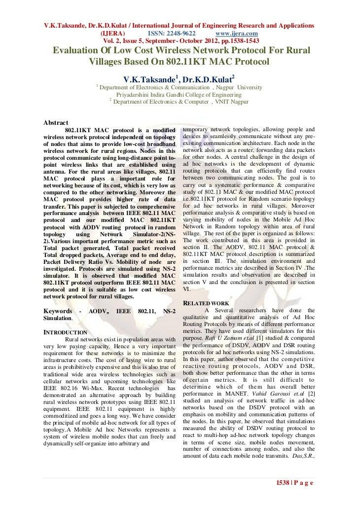 V.K.Taksande, Dr.K.D.Kulat / International Journal of Engineering Research and Applications                  (IJERA)      ...