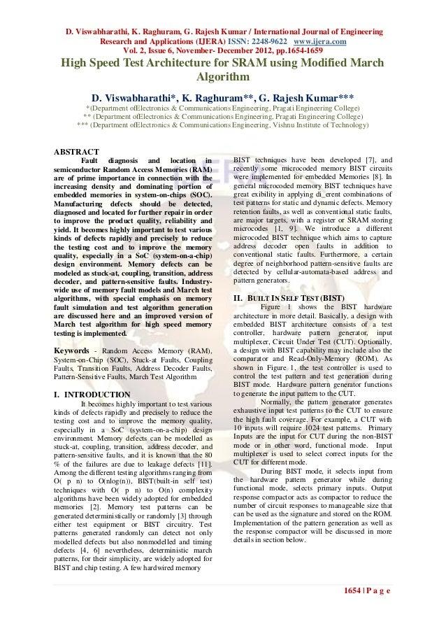 D. Viswabharathi, K. Raghuram, G. Rajesh Kumar / International Journal of Engineering            Research and Applications...