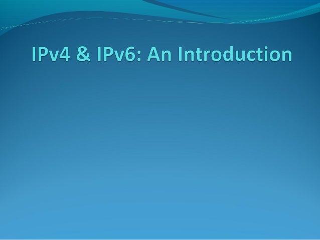 Ip4 vs ip6