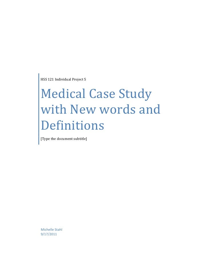 case study medical Health & human services emergency medical services example of case study much ado about stools giardiasis strikes middle america clinical case study #1.