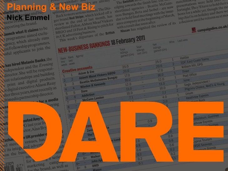 Planning & New Biz Nick Emmel