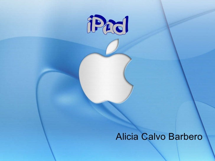 Alicia Calvo Barbero iPad