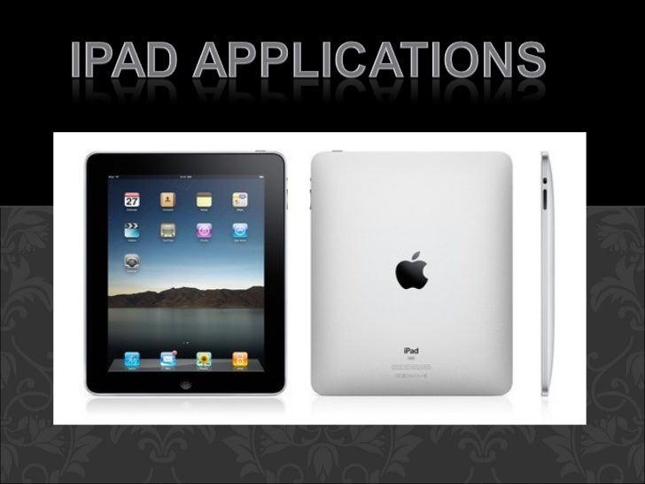 Ipad -- Applications Presentation