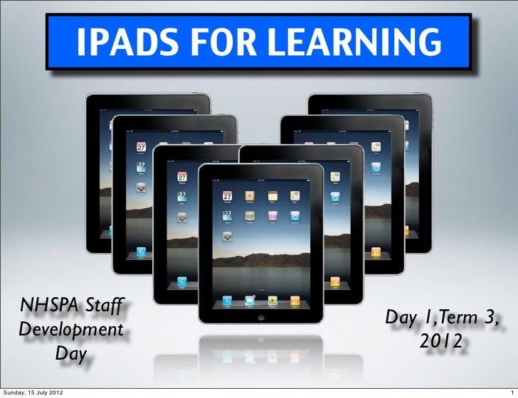 Ipad Presentation SDD