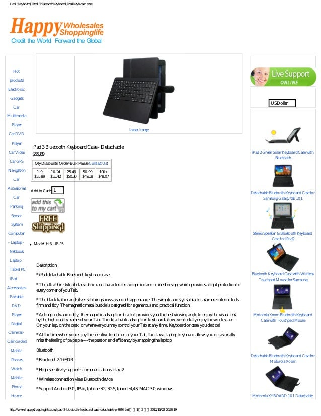 iPad 3 keyboard, iPad 3 bluetooth keyboard, iPad keyboard caseCategories                                                  ...