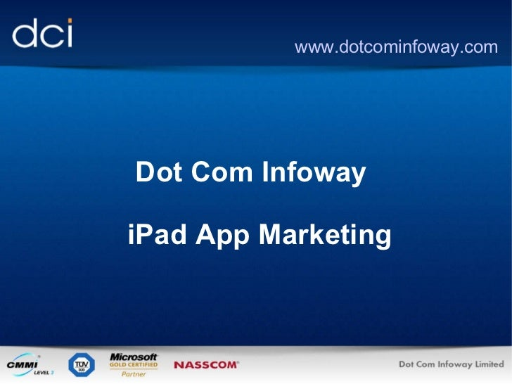 iPad Apps Promotion by Dot Com Infoway