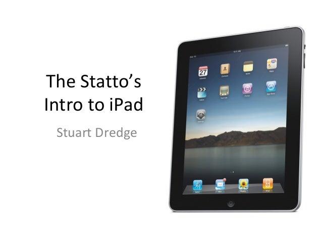 The Statto's Intro to iPad Stuart Dredge