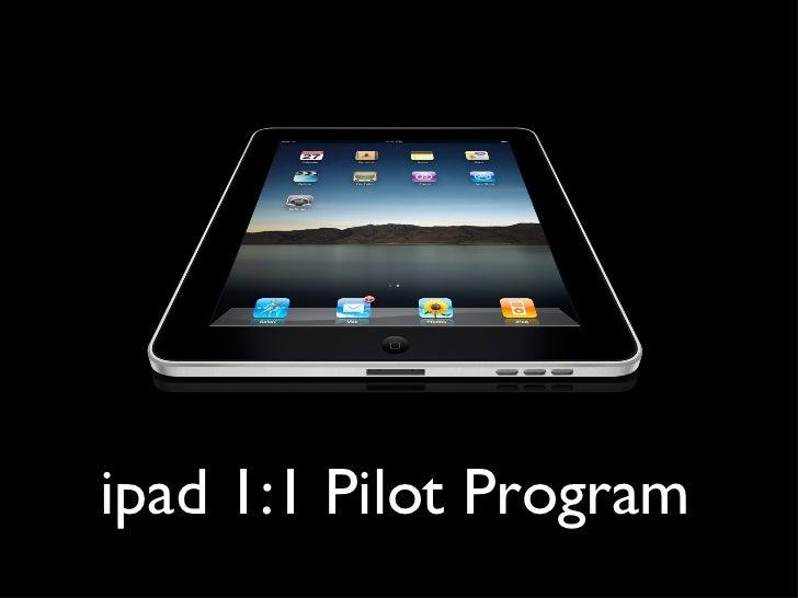 ipad 1:1 Pilot Program
