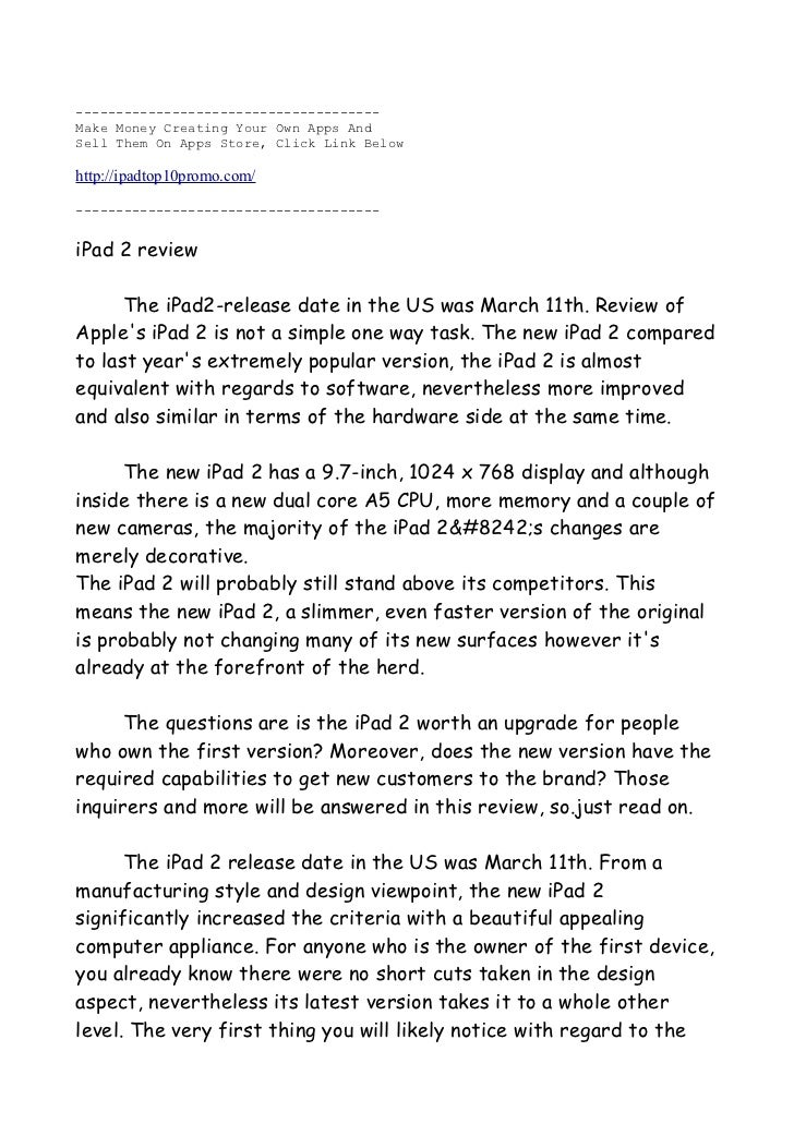 The New And Updated Review Of The New Ipad 2