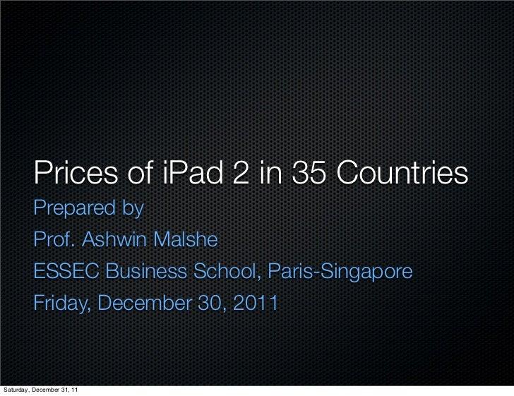 Worldwide iPad 2 Prices