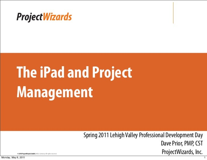 The iPad and Project            Management                                                                               S...