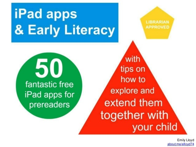 iPads & Early Literacy: 50 Fantastic Free Apps for Pre-Readers