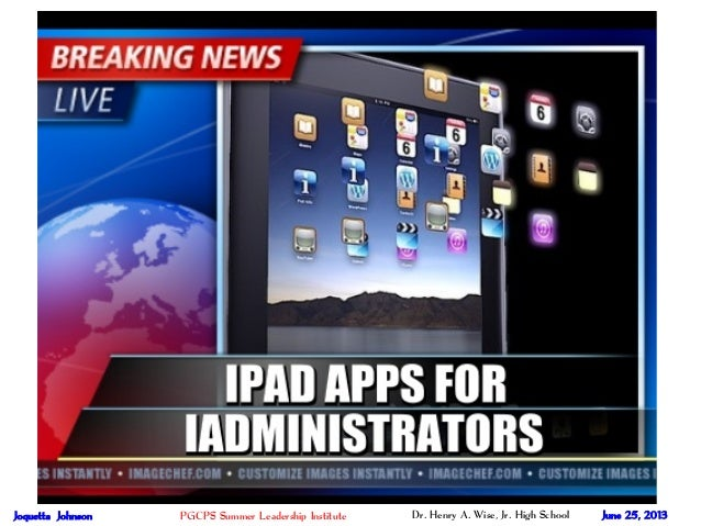 iPad Apps for iAdministrators